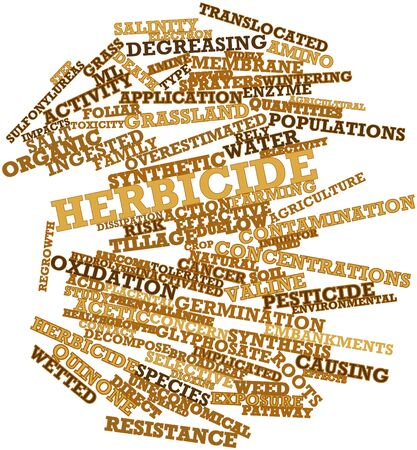 quantities: Abstract word cloud for Herbicide with related tags and terms