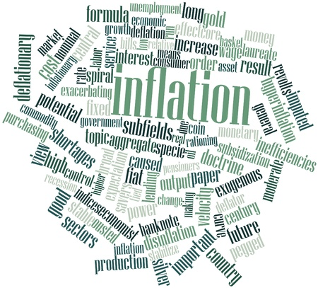 Abstract word cloud for Inflation with related tags and terms Stock Photo - 16489280