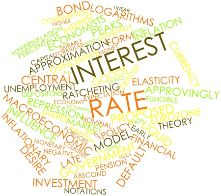 deemed: Abstract word cloud for Interest rate with related tags and terms