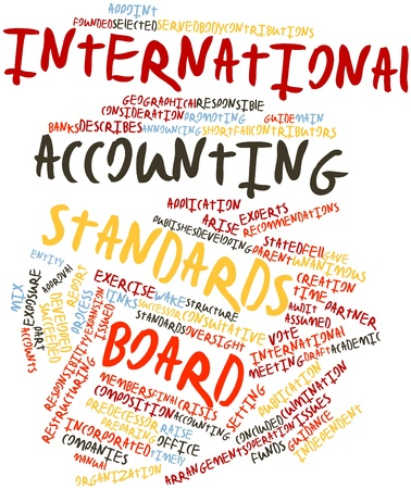 predecessor: Abstract word cloud for International Accounting Standards Board with related tags and terms