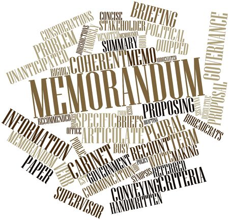 deemed: Abstract word cloud for Memorandum with related tags and terms