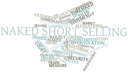 Abstract word cloud for  short selling with related tags and terms Stock Photo - 16488964