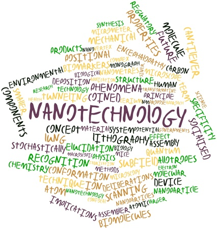 monograph: Abstract word cloud for Nanotechnology with related tags and terms