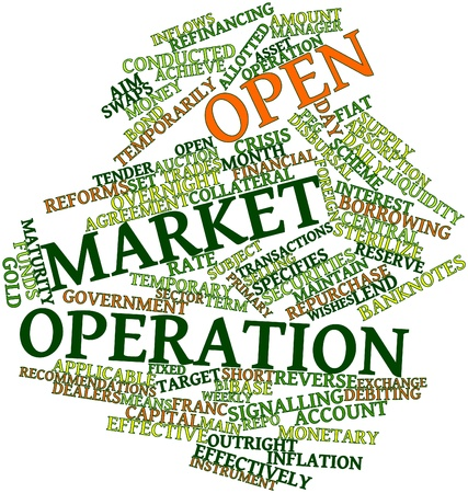 Abstract word cloud for Open market operation with related tags and terms Stock Photo - 16489336