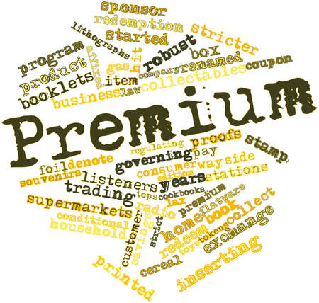 lax: Abstract word cloud for Premium with related tags and terms Stock Photo
