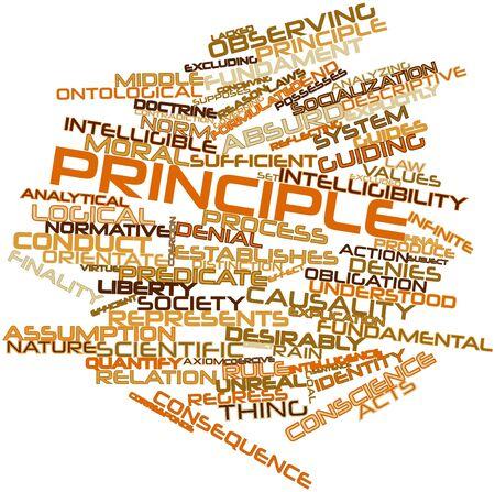 inteligible: Nube palabra abstracta para el Principio con etiquetas y términos relacionados