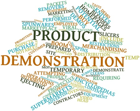 distributed: Abstract word cloud for Product demonstration with related tags and terms