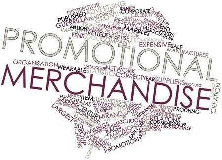 Nube de palabras abstracto para productos promocionales con marcas y términos relacionados