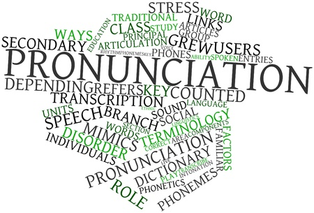 Abstract word cloud for Pronunciation with related tags and terms Stock Photo - 16488977