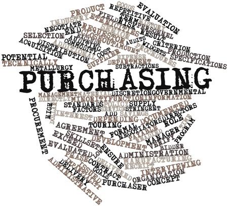 Nube palabra abstracta para compras con las etiquetas y términos relacionados