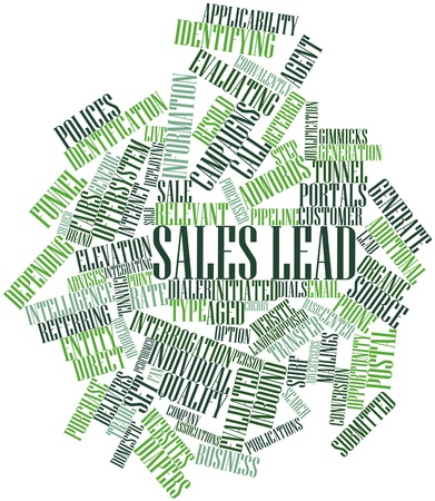 Abstract word cloud for Sales lead with related tags and terms photo