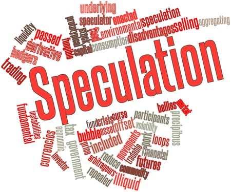 Abstract word cloud for Speculation with related tags and terms photo
