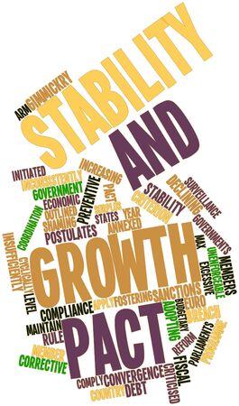 parliaments: Word cloud astratto per Patto di stabilit� e crescita con tag correlati e termini