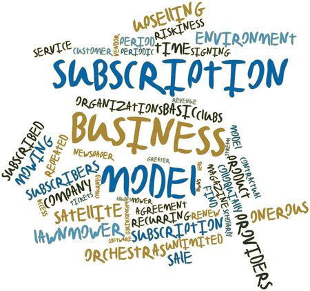 individualized: Abstract word cloud for Subscription business model with related tags and terms