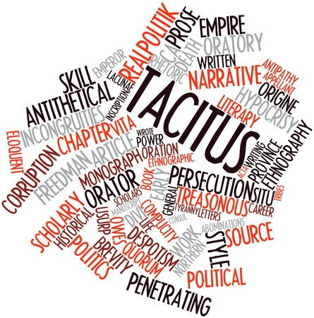 complicity: Abstract word cloud for Tacitus with related tags and terms
