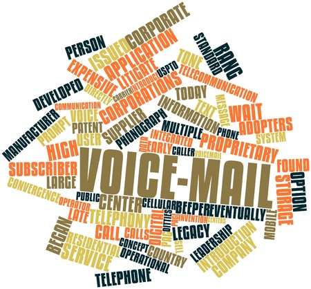 Abstract word cloud for Voice-mail with related tags and terms Stock Photo - 16489192