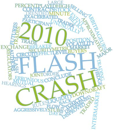 entered: Abstract word cloud for 2010 Flash Crash with related tags and terms