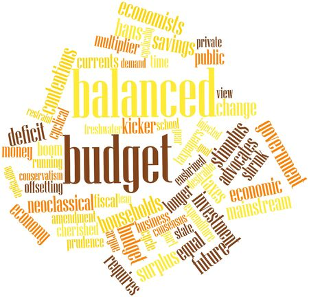 balanced budget: Abstract word cloud for Balanced budget with related tags and terms