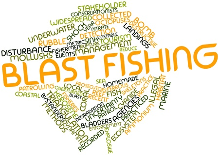 Abstract word cloud for Blast fishing with related tags and terms Stock Photo - 16498399
