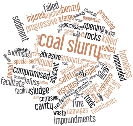Abstract word cloud for Coal slurry with related tags and terms