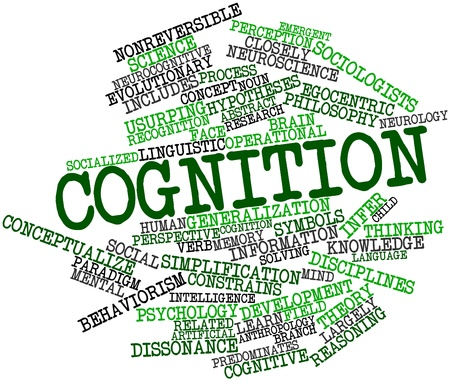 Abstract word cloud for Cognition with related tags and terms photo