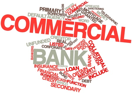 Abstract word cloud for Commercial bank with related tags and terms Stock Photo - 16498343