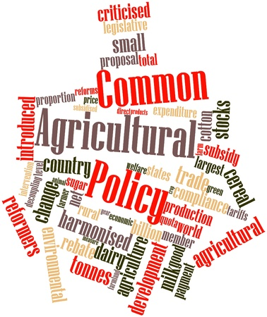 Abstract word cloud for Common Agricultural Policy with related tags and terms