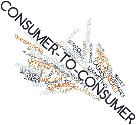 electronically: Abstract word cloud for Consumer-to-consumer with related tags and terms