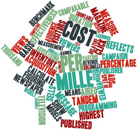 comparable: Abstract word cloud for Cost per mille with related tags and terms