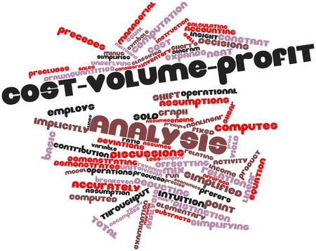 quantities: Abstract word cloud for Cost-volume-profit analysis with related tags and terms