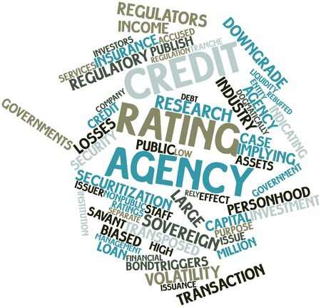 Abstract word cloud for Credit rating agency with related tags and terms photo