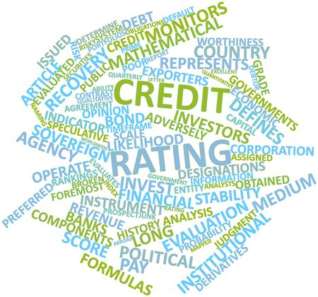 quantitative: Abstract word cloud for Credit rating with related tags and terms