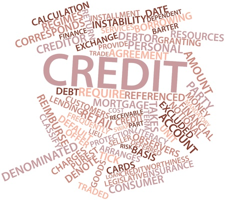 delivers: Abstract word cloud for Credit with related tags and terms