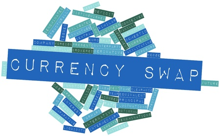 time deficit: Abstract word cloud for Currency swap with related tags and terms