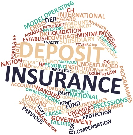 programmes: Abstract word cloud for Deposit insurance with related tags and terms Stock Photo