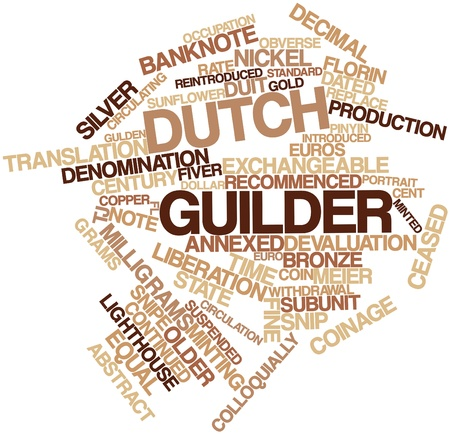 approximately: Abstract word cloud for Dutch guilder with related tags and terms