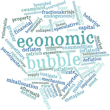 bailout: Abstract word cloud for Economic bubble with related tags and terms
