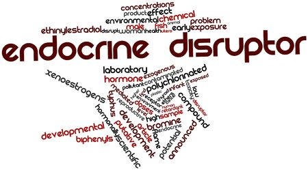 typhus: Abstract word cloud for Endocrine disruptor with related tags and terms