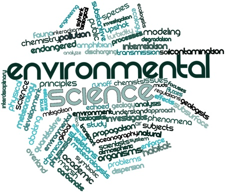 Abstract word cloud for Environmental science with related tags and terms photo