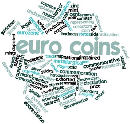 Abstract word cloud for Euro coins with related tags and terms Stock Photo - 16498671
