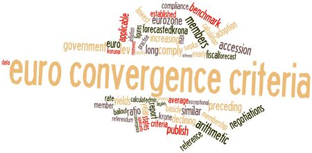 convergence: Abstract word cloud for Euro convergence criteria with related tags and terms