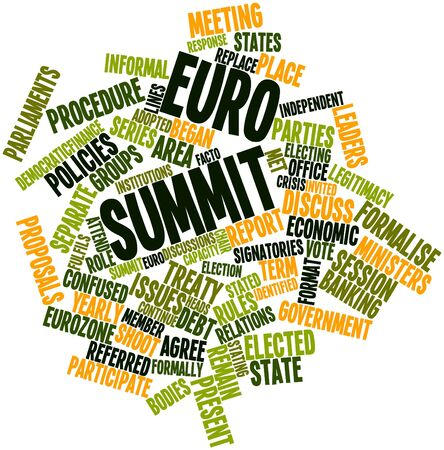 legitimacy: Abstract word cloud for Euro summit with related tags and terms
