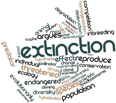 関連タグと用語を絶滅の危機抽象単語の雲