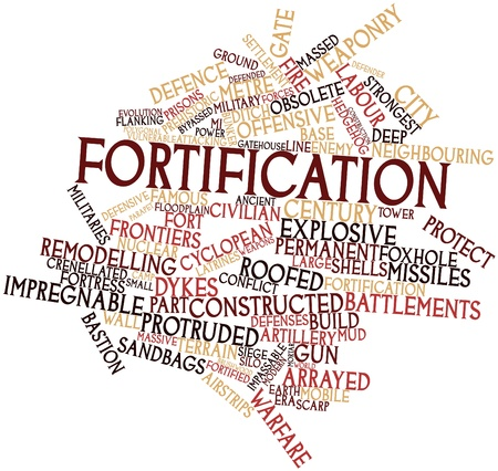 scarp: Abstract word cloud for Fortification with related tags and terms