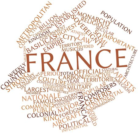 lingua: Abstract word cloud for France with related tags and terms