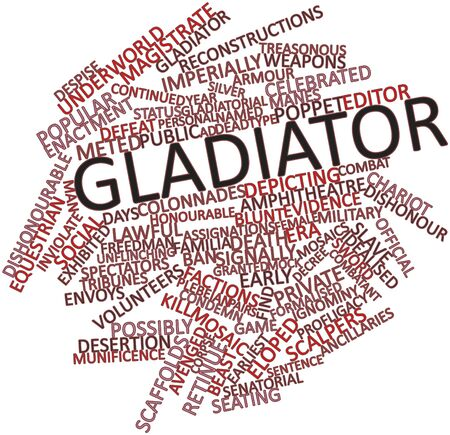 Abstract word cloud for Gladiator with related tags and terms Stock Photo - 16499308
