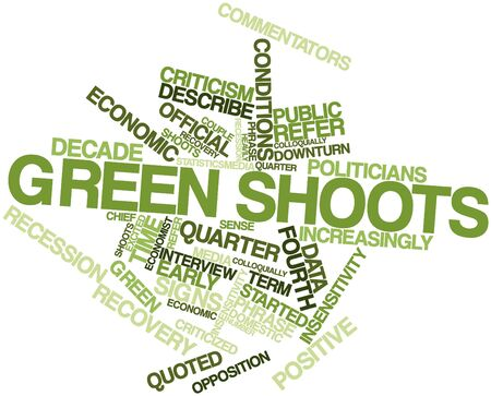 commentators: Abstract word cloud for Green shoots with related tags and terms
