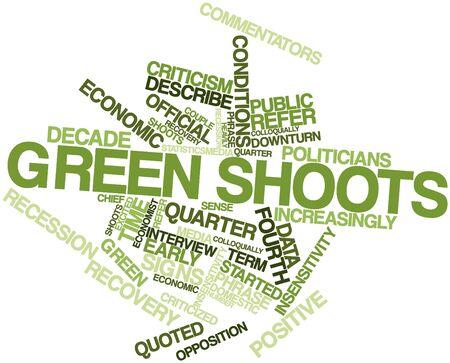 increasingly: Word cloud astratto per germogli verdi con tag correlati e termini
