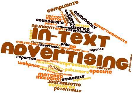 potentially: Abstract word cloud for In-text advertising with related tags and terms