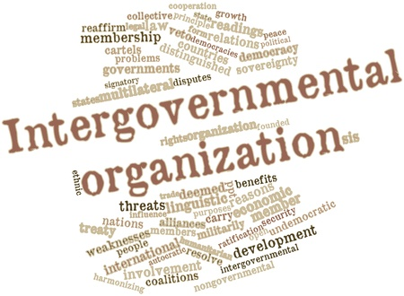 deemed: Abstract word cloud for Intergovernmental organization with related tags and terms